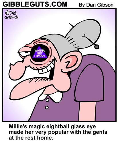 Glass Eye Cartoon