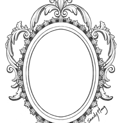 Gothic Lace Frame