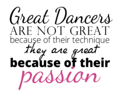Great Dancers Are Not Great