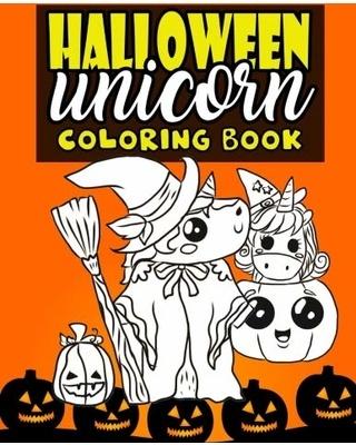 Halloween Unicorn Coloring Book