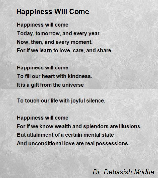 Happiness Will Come