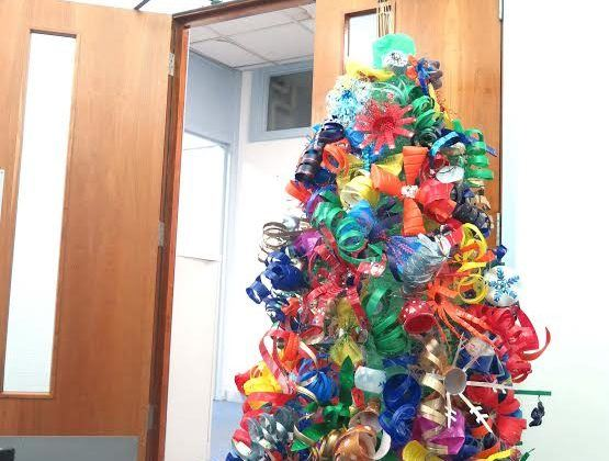 Happy Recycled Christmas Tree