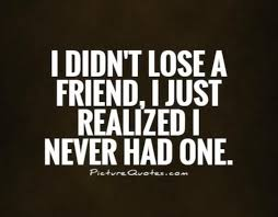 I Didn't Lose A Friend