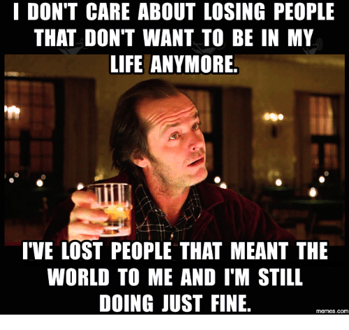 I Don't Care About Losing People