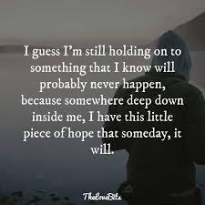 I Guess I'm Still Holding