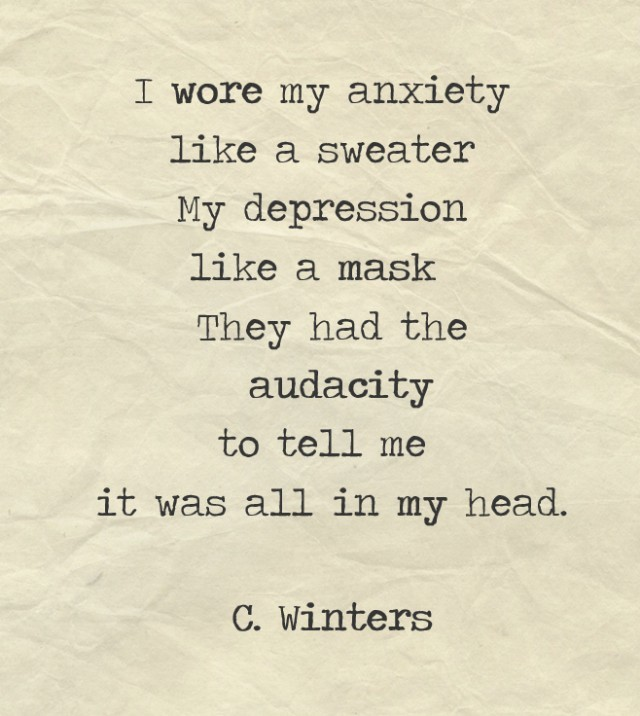 I wore my anxiety like a sweater
