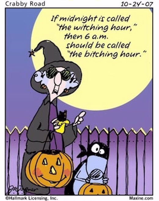 IF midnight is called the witching hour