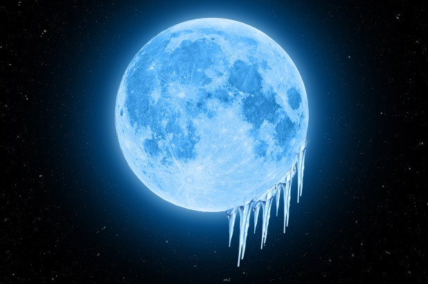 Ice On Moons Surface