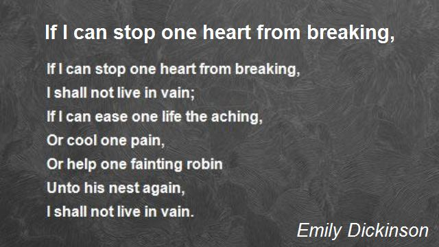 If I Can Stop Heart From Breaking