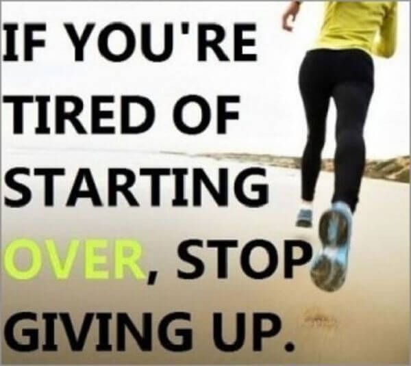 If You're Tired Of Starting Over