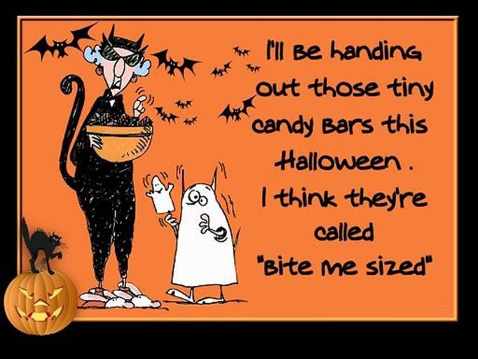 I'll be handing out those tiny candy bars