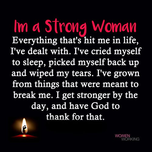 I'm A Strong Woman