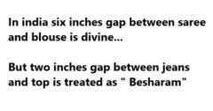 In India Six Inches Gap