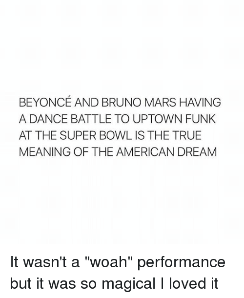 It Wasn't A Woah Performance