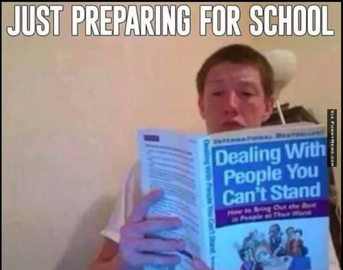 Just preparing for school