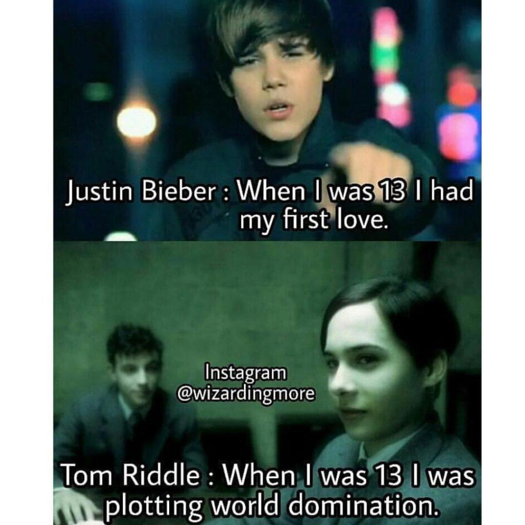 Justin Bieber vs Tom Riddle