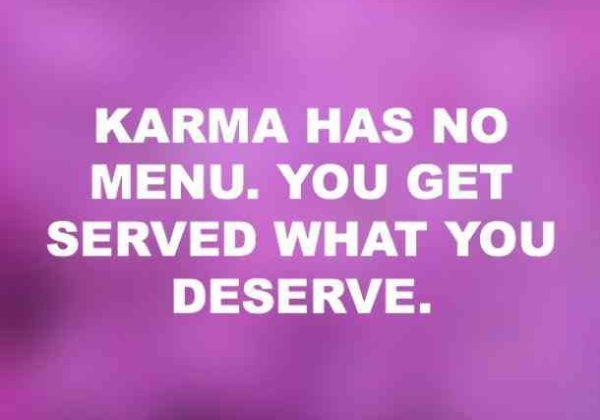 Karma Has No Menu