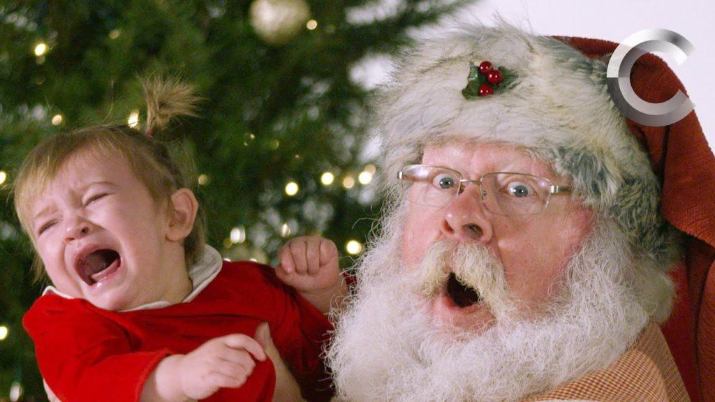 Kid Getting Picture To Santa