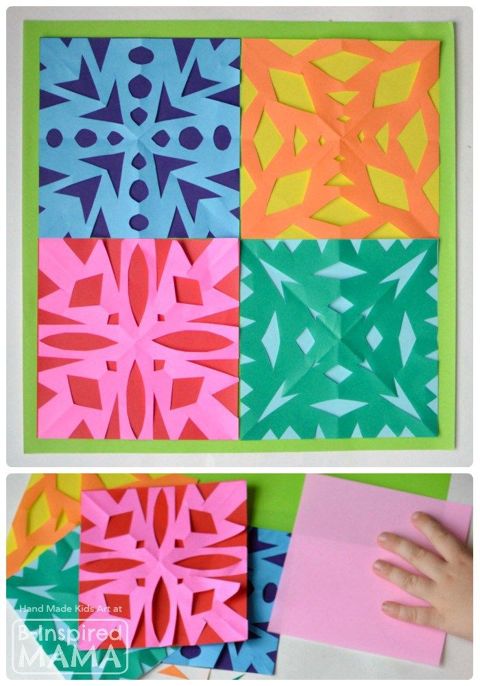 Kids Art Snowflake