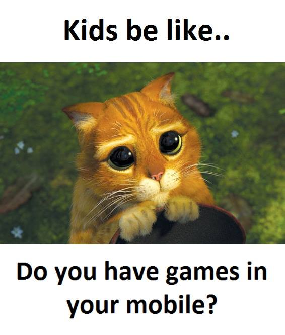 Kids be like….
