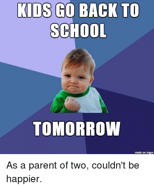 Kids go back to school