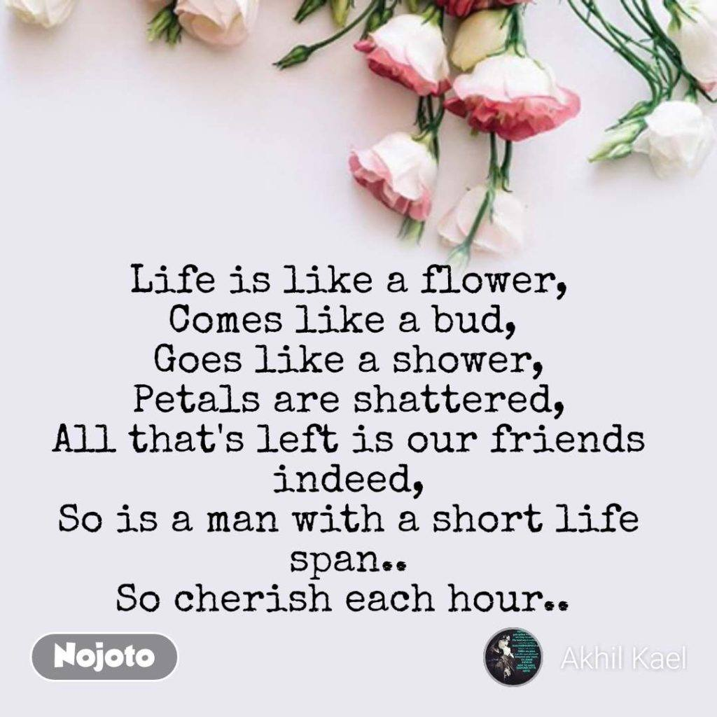 Life Is Like A Flower