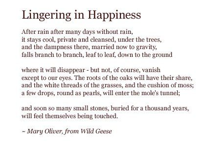 Lingering in Happiness