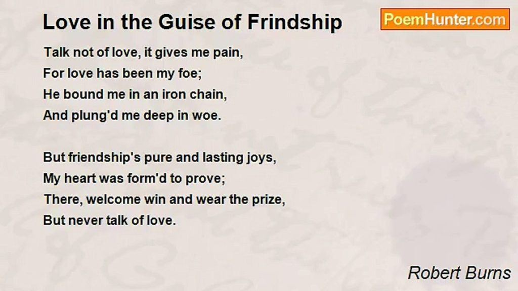 Love in the Guise of Friendship