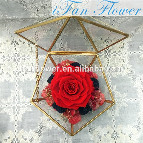 Luxury Preserved Roses In Glass Long Time