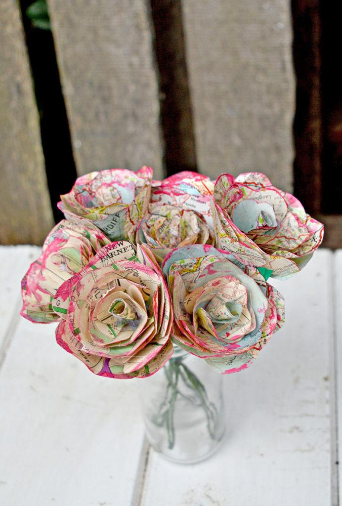 Map Roses Bunch