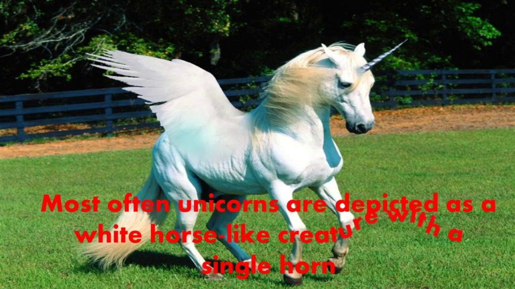 Most Often Unicorns Are depicted As A White Horse