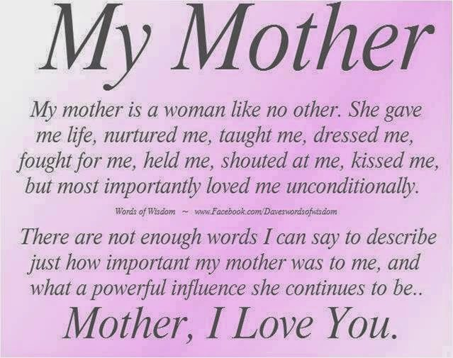 Mother I Love You
