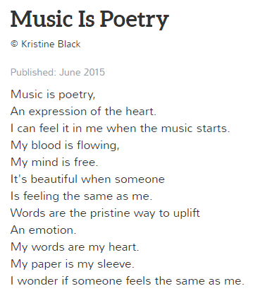 Music is Poetry