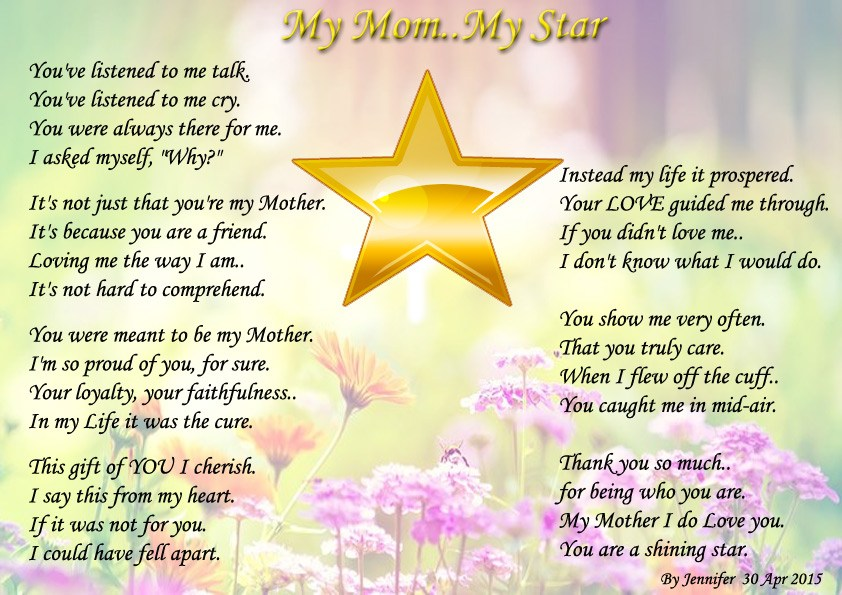 My Mom.. My Star