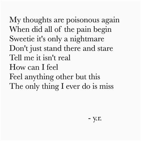 My Thoughts Are Poisonous
