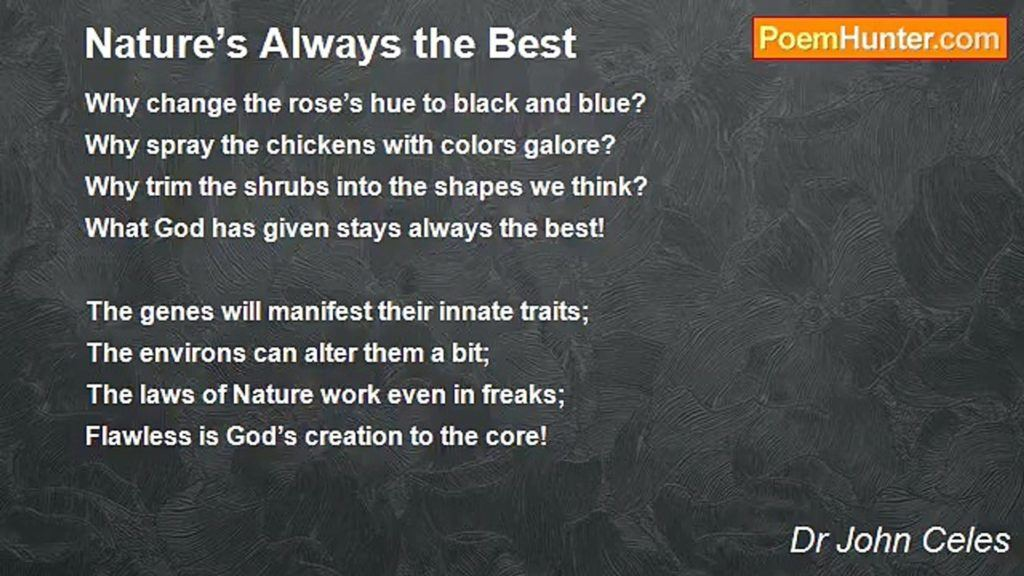 Best Poems About Nature