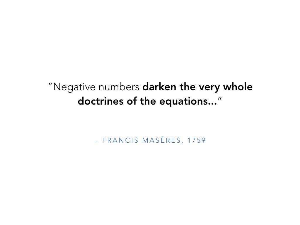 Negative Numbers Darken