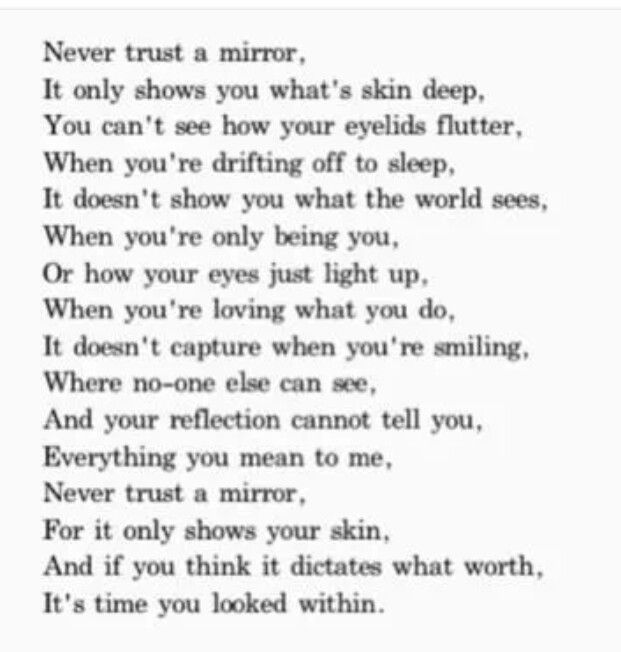 Never Trust A Mirror