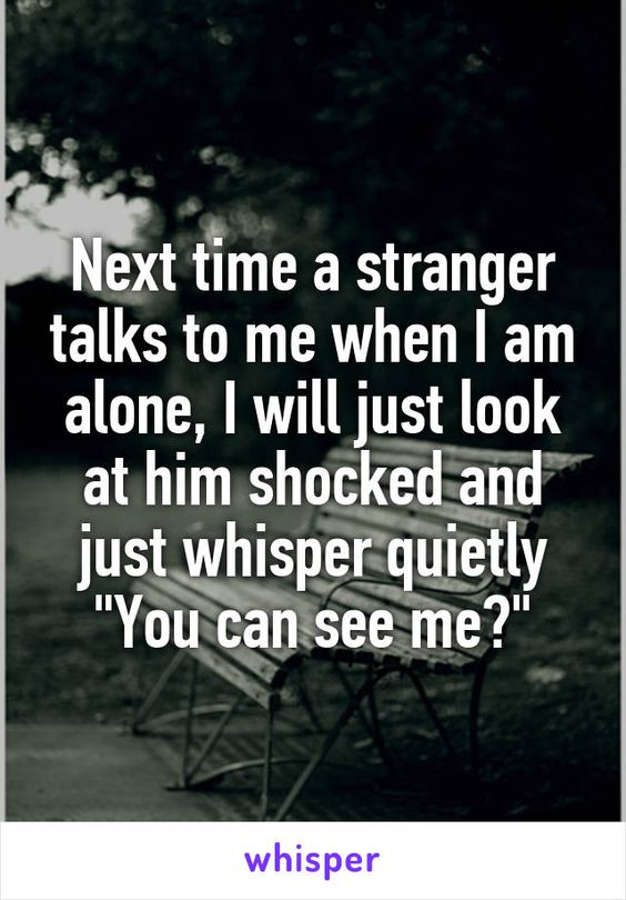 Next Time A Stranger Talks