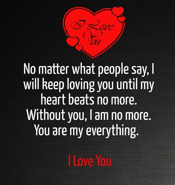 No Matter What People Say