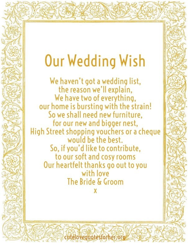 Our Wedding Wish