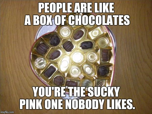 People Are Like A Box Of Chocolates