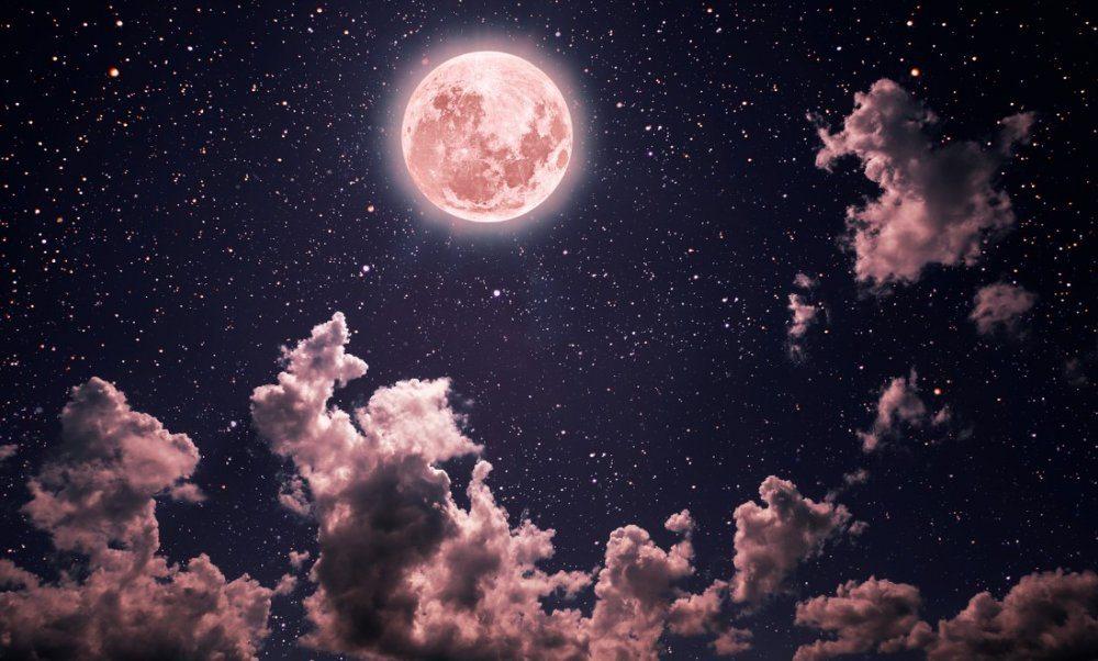 Pink Moon Starry Sky