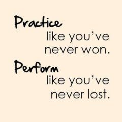 Practice Like You've Never Won