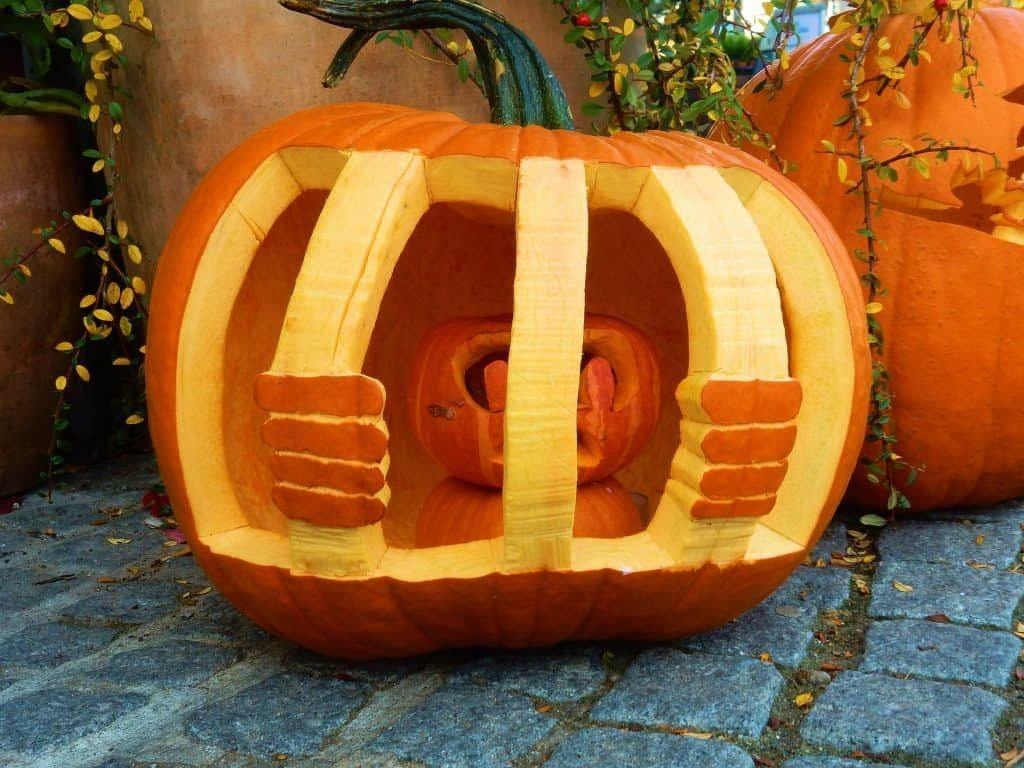 Pumpkin Carving Behind Bars