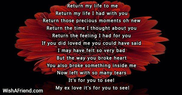 Return My Life To Me