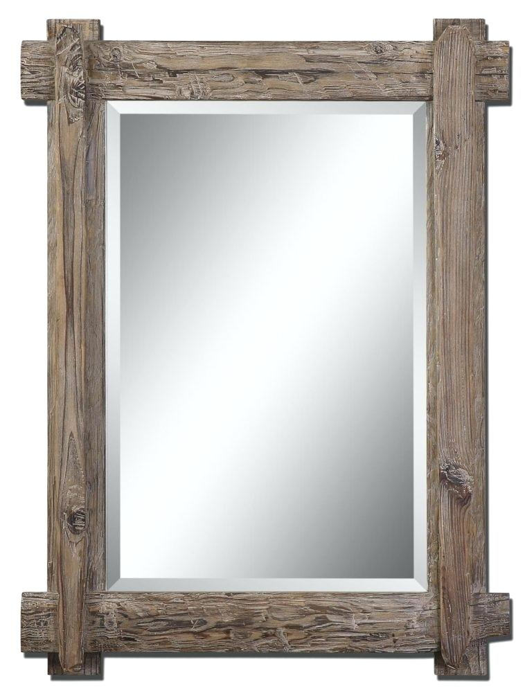 Rustic Bathroom Mirror Frame
