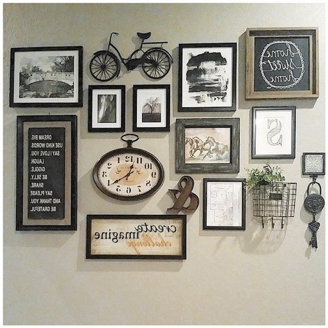 Rustic Wall Collage Family Set Ideas