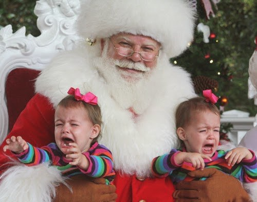 Santa Crying Kids