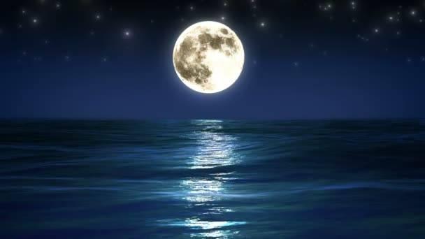 Sea And Moon Night Sky